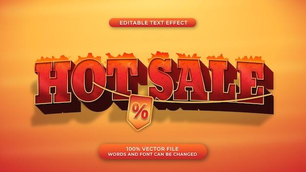 Gorąca sprzedaż efekt tekstu promocyjnego 3d pogrubiony i ognisty styl