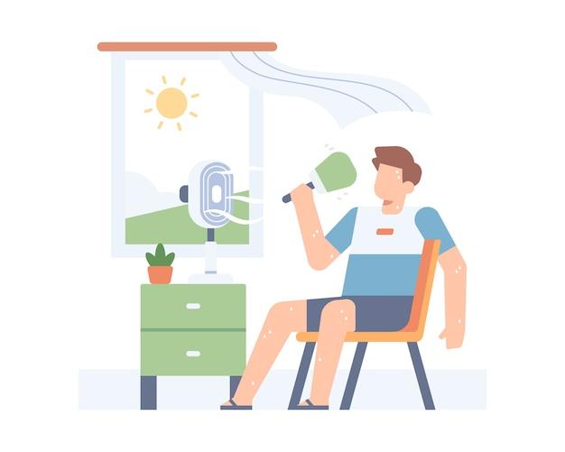 Gorące lato ilustracja