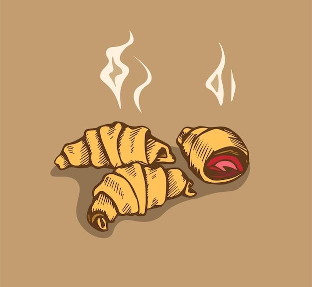 Gorące rogaliki truskawkowo-wiśniowe