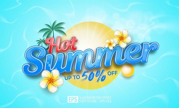 Gorący baner promocyjny na lato