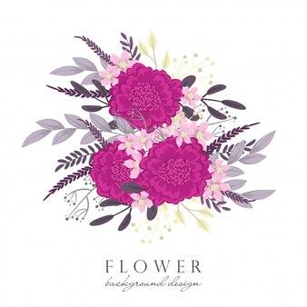 Gorący różowy kwiat clipart