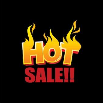 Gorący szablon logo sprzedaży