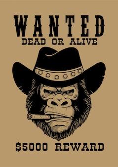 Gorilla wanted