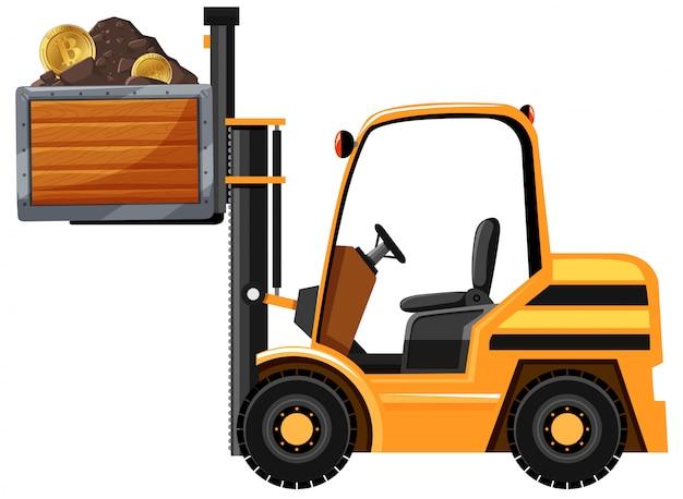 Górniczy traktor i bitcoin