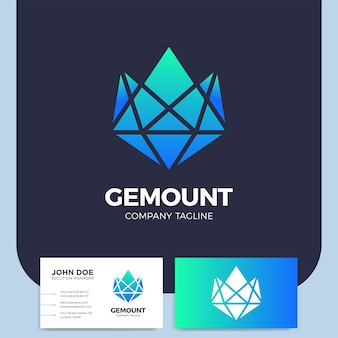 Górski diament lub klejnot ikona element projektu logo