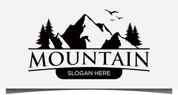 Górskie logo projekt wektor