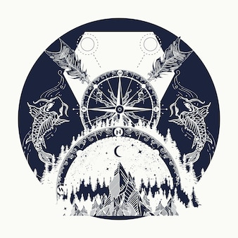 Góry i kompas