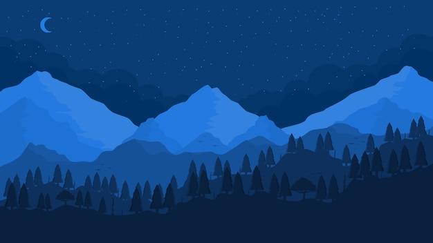 Góry ilustracja krajobraz tło