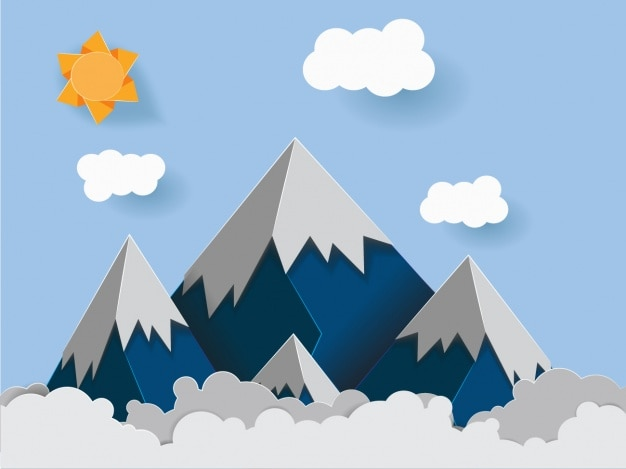 Góry w tle wzór