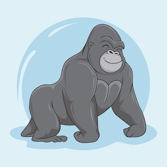 Goryl cartoon animals king kong