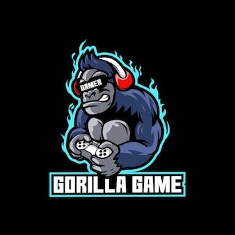 Goryl kontroler gier sportowych zoo dżungla zły