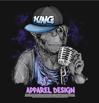 Goryl w stylu hip-hop