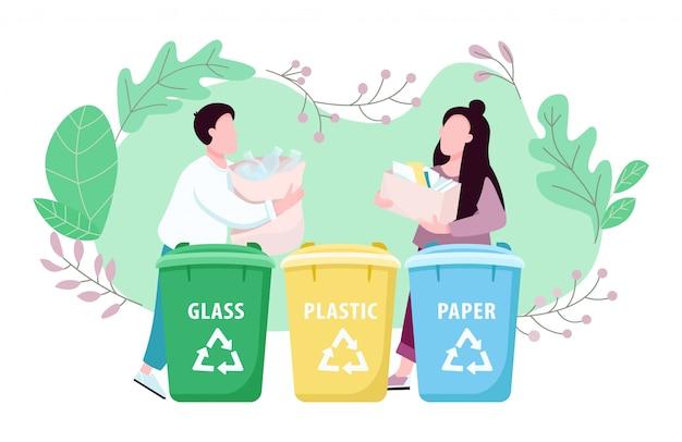 Gospodarka odpadami, sortowanie śmieci