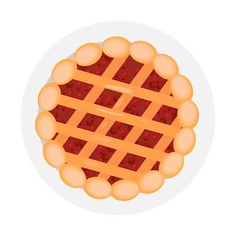 Gotowane ciasto święto dziękczynienia tradycyjne jedzenie pieczone ciasto z jagodami