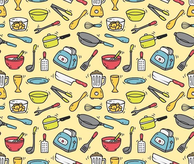 Gotowanie naczynie bezszwowe tło