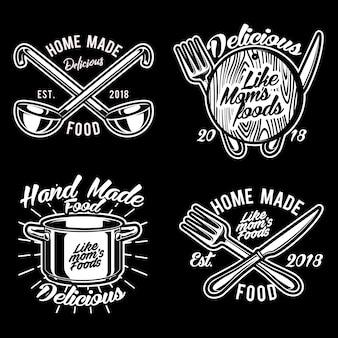 Gotowanie rzeczy logo wektor zestaw ilustracji