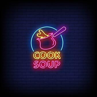 Gotowanie zupy tekst w stylu neonów