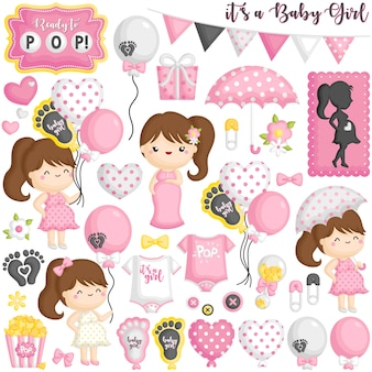 Gotowy do pop baby girl pregnant set