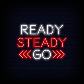 Gotowy steady go neontext