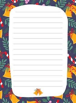 Gotowy świąteczny szablon stacjonarny do notatek.