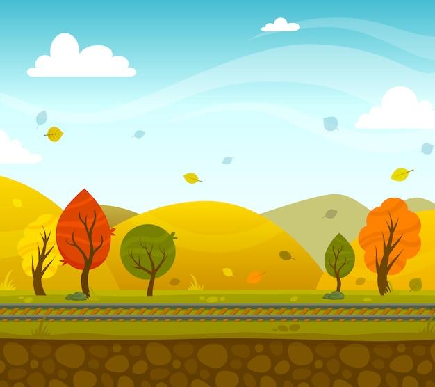 Gra 2d park landscape