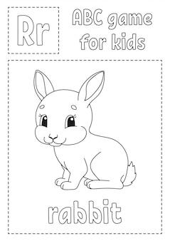 Gra abc dla dzieci. kolorowanka alfabet