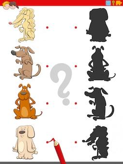 Gra cieni z postaciami psów