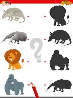 Gra cieni z uroczymi postaciami zwierząt
