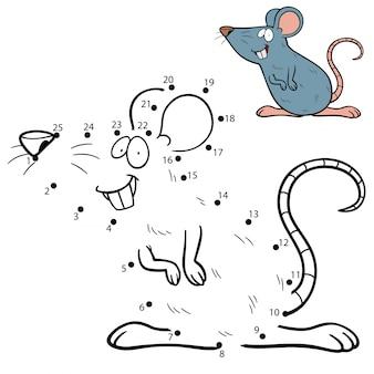 Gra dla dzieci kropka-kropka szczur