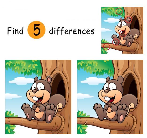 Gra dla dzieci znajduje różnice