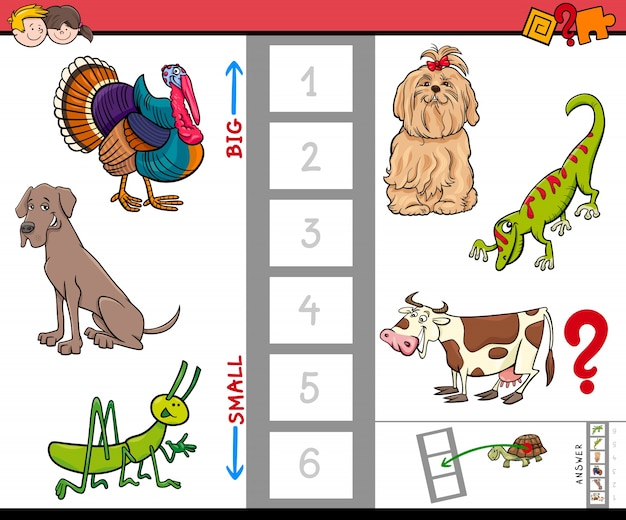 Gra dla małych i dużych zwierząt dla dzieci