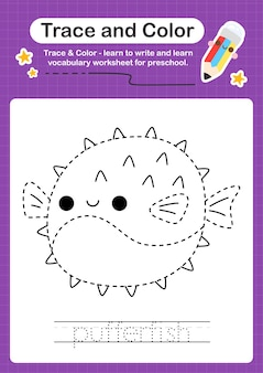 Gra edukacyjna dla dzieci narysuj i pokoloruj sealife!