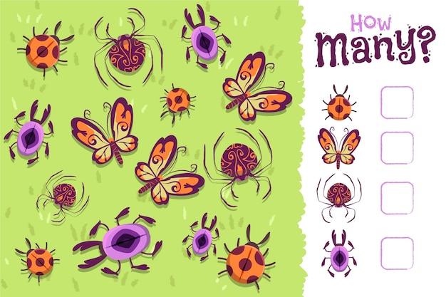 Gra edukacyjna dla dzieci z owadami
