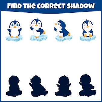 Gra edukacyjna dla dzieci znajdź odpowiednią minigrę w cieniu dla dzieci