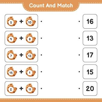 Gra edukacyjna polegająca na liczeniu plików cookie i dopasowywaniu odpowiednich liczb