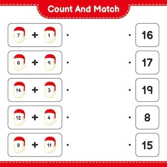 Gra edukacyjna polegająca na liczeniu świętego mikołaja i dopasowywaniu odpowiednich liczb