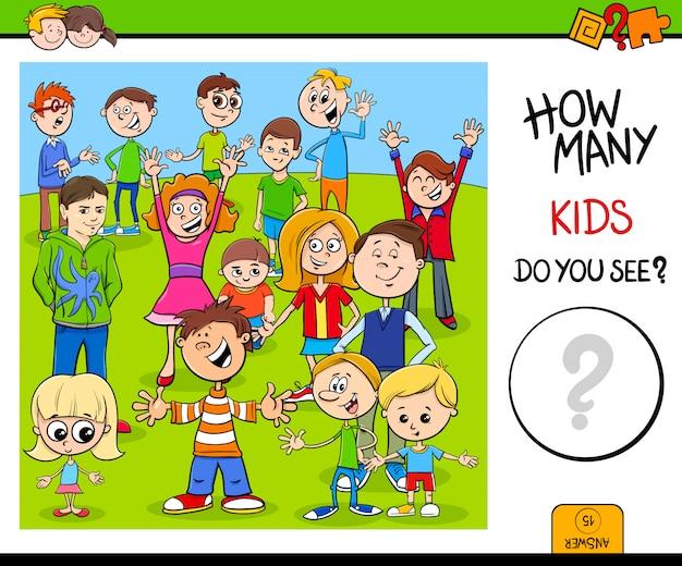 Gra edukacyjna z postaciami dla dzieci
