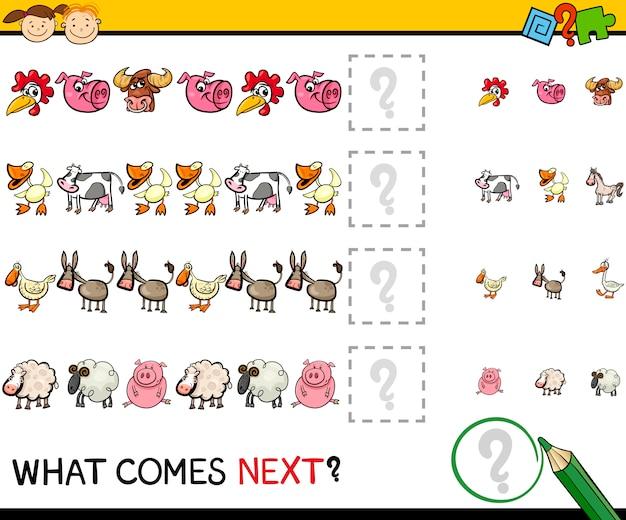 Gra edukacyjna ze zwierzętami gospodarskimi