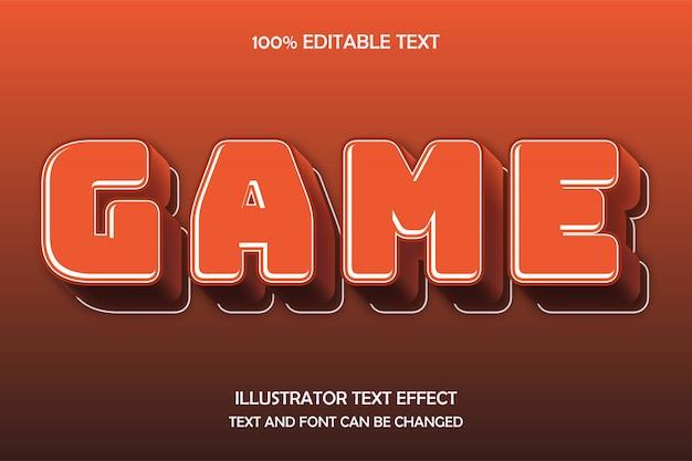 Gra, edytowalny tekst 3d efekt nowoczesnego komiksu