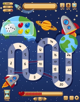 Gra kosmiczna z rakietami w kosmosie
