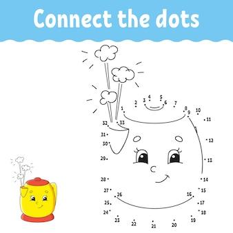 Gra kropka-kropka. narysuj linię.