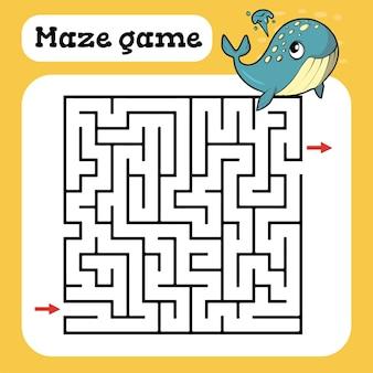 Gra labirynt dla dzieci ilustracja kreskówka arkusza