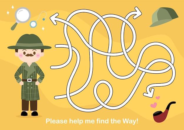 Gra labirynt dla dzieci puzzle