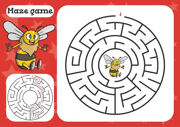Gra labirynt dla dzieci śliczne arkusze kreskówek