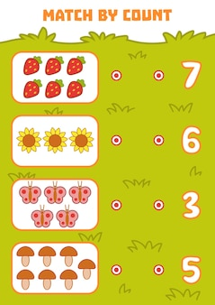 Gra licząca dla dzieci w wieku przedszkolnym policz przedmioty na obrazku i wybierz właściwą odpowiedź