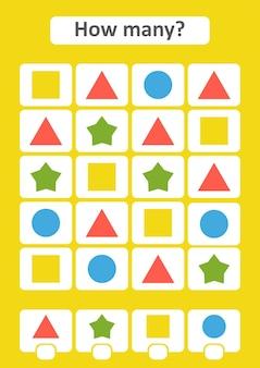 Gra licząca dla dzieci w wieku przedszkolnym