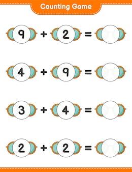 Gra licząca policz liczbę okularów przeciwsłonecznych i napisz wynik gra edukacyjna dla dzieci