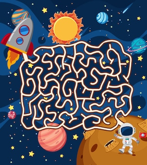 Gra logiczna astronauta w kosmosie