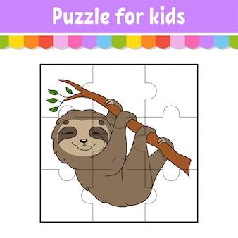 Gra logiczna dla dzieci. lenistwo arkusz edukacyjny. kolorowa strona aktywności.
