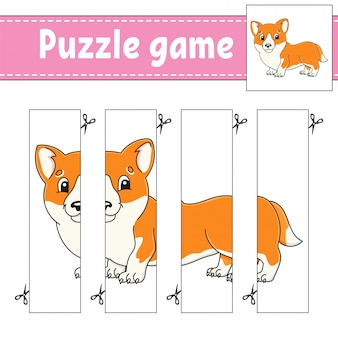 Gra logiczna dla dzieci. praktyka cięcia.
